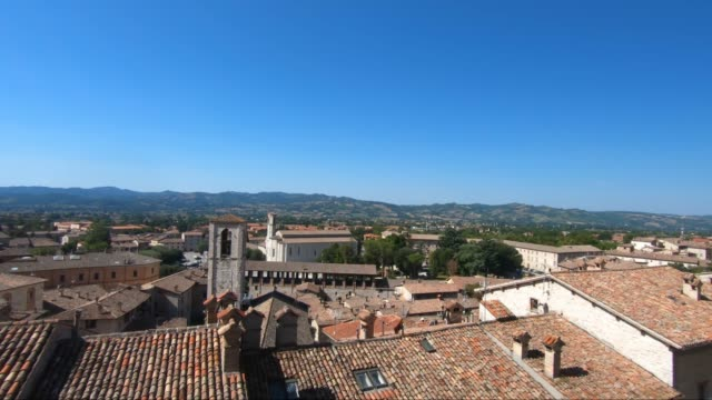 views of gubbio from piazza grande panoramic view