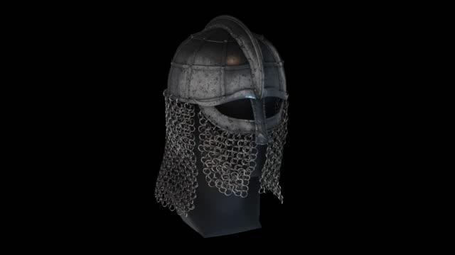 vídeos y material grabado en eventos de stock de casco viking-rotación - vikingo
