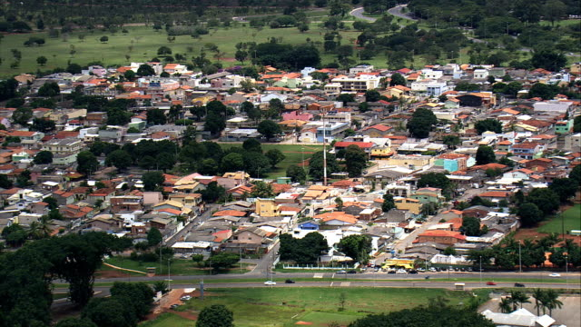 Vila Planalto-vista aérea-Distrito Federal, Brasília, Brasil - vídeo