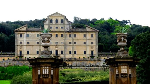 villa aldobrandini nobility historic palace in frascati - rome province in lazio - italy - victorian architecture stock videos & royalty-free footage
