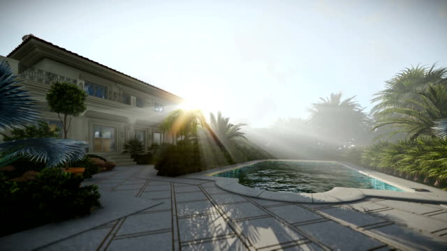 Villa with swimming pool for sale, beautiful sunrays