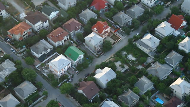 Village, aerial view video