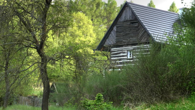 Village farmhouse in idyllic countryside with meadows, forests and fields video