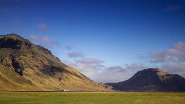Village in Icelandic Valley - Time Lapse video