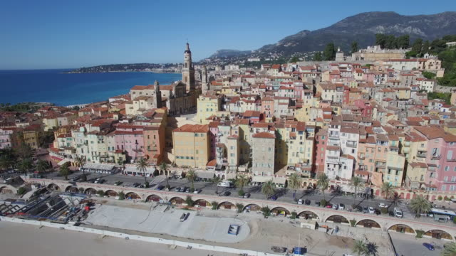 Village of Menton on the French Riviera, France video