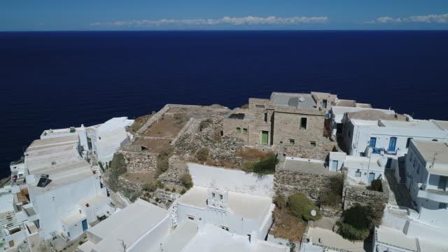village of seraalia near kastro sifnou on the island of sifnos in the cyclades in greece - isole egee video stock e b–roll