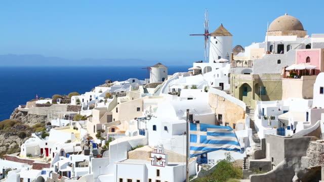HD: Village Oia on Santorini island, Greece video