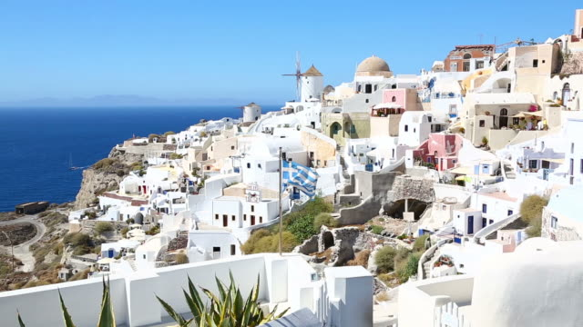 HD: Village Oia on Santorini island, Greece video