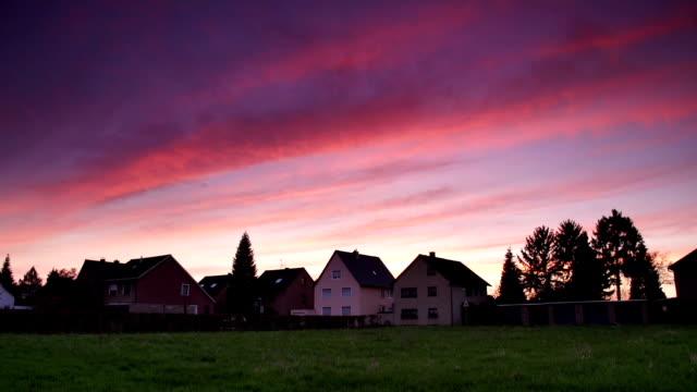 CRANE DOWN: Village Sunset video