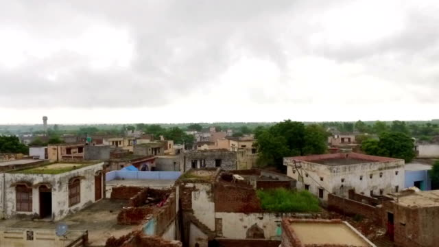 Village HD1080p: Elevated view of small village (shimli) Located in Haryana India. haryana stock videos & royalty-free footage