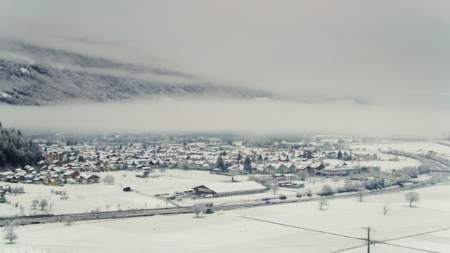 Villages in Interlaken, Switzerland - Drone Shot video