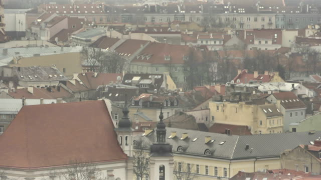 Vilnius. View from Mount of Three Crosses video