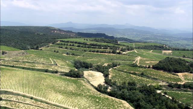 Vineyards Near Roaix  - Aerial View - Provence-Alpes-Côte d'Azur,  Vaucluse,  Arrondissement de Carpentras helicopter filming,  aerial video,  cineflex,  establishing shot,  France video
