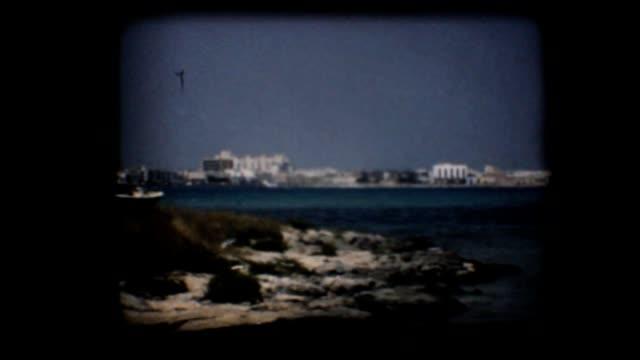 Vintage 8mm. Bay in the Mediterranean video