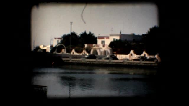 Vintage 8mm. Beach and seaside restaurant video