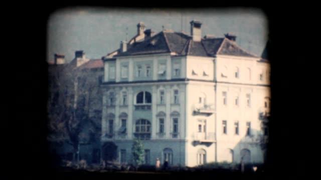 Vintage 8mm. Buildings in Bolzano video