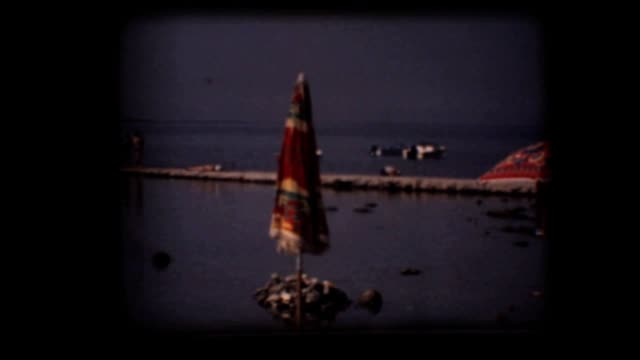 Vintage 8mm. Clear water beach video