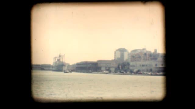 Vintage 8mm. Port of Brindisi video