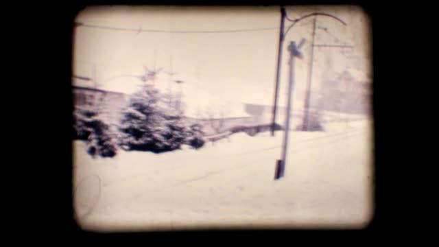 Vintage 8mm. Snowy street video