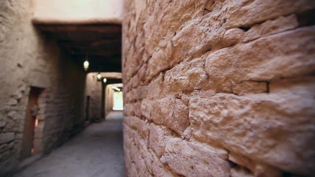 vintage arab house in heritage arab village in saudi arabia - vintage architecture stock videos & royalty-free footage