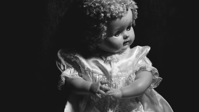 Vintage Baby Doll in Black and White