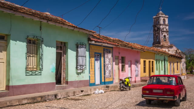 Vintage car in  Trinidad, Cuba