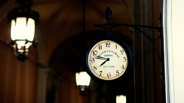 Vintage clock on the wall video