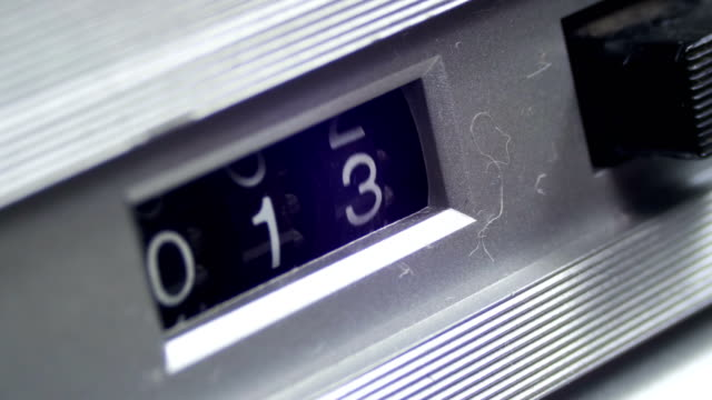 Vintage Counter with Numbers Rotates on the Audio Cassette player video