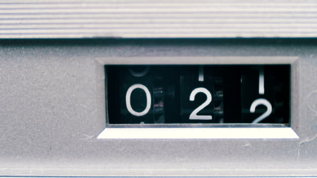 Vintage Counter with Numbers Rotates on the Tape Recorder video