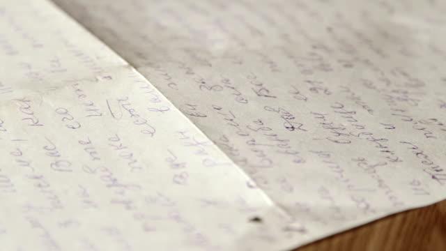 Vintage cursive russian personal letter video