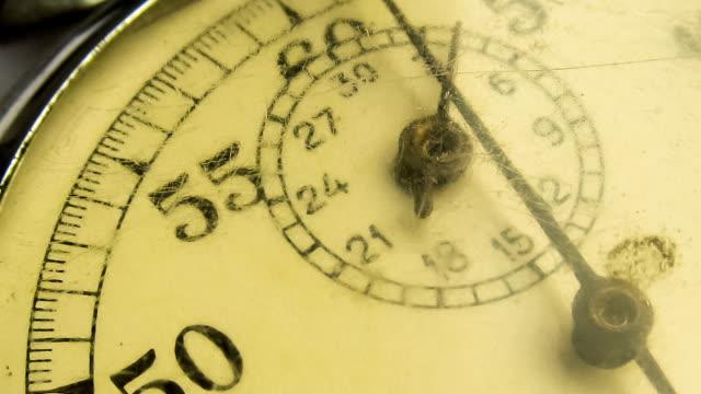 ビンテージダイヤル stopwatch (ストップウォッチ) - 時計点の映像素材/bロール