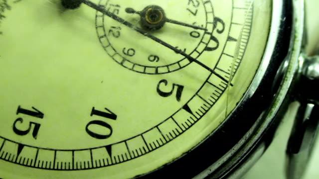 vidéos et rushes de vintage composez le chronomètre - chrono sport