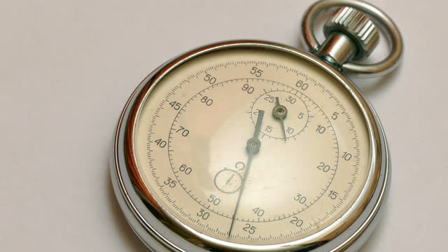 Vintage Dial White Stopwatch video