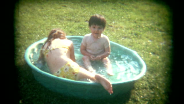Vintage Film Playing in Pool video