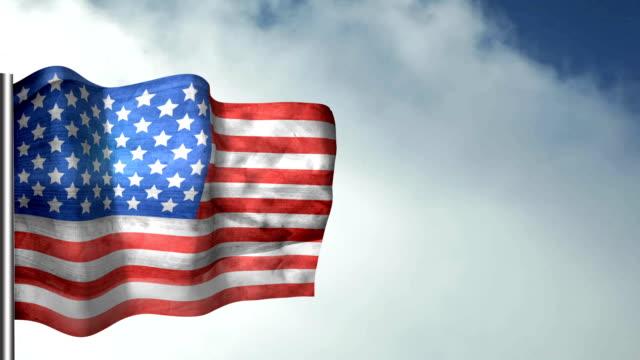 us vintage flag - looping, waving - fourth of july filmów i materiałów b-roll