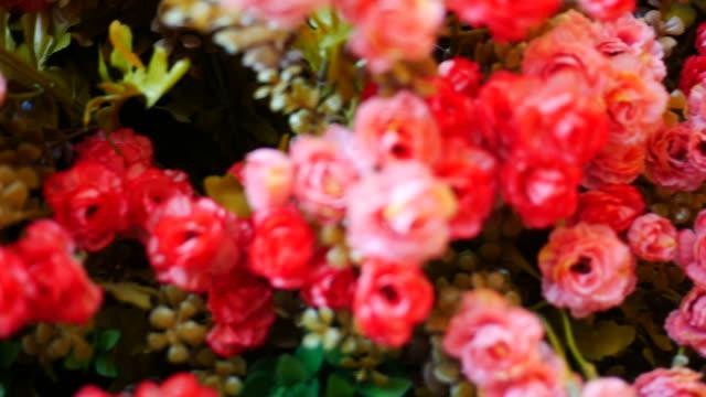 Vintage flower in room video
