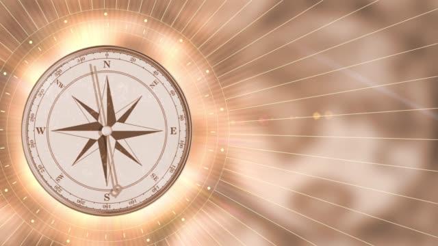 Vintage gold compass