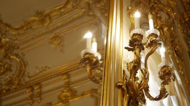 lampe Vintage or sur la Tenture murale - Vidéo
