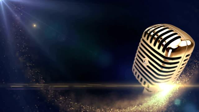 vintage golden microphone video