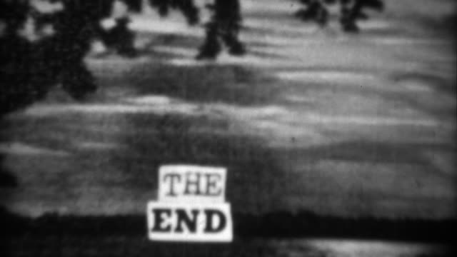 1937: Vintage homemade crafted the end closing title screen scene. video