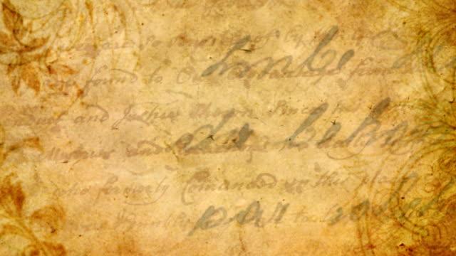 vídeos de stock e filmes b-roll de fundo sem costura vintage letra - carta documento