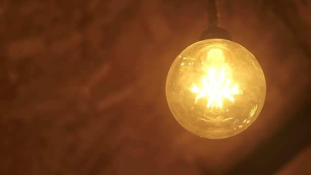 Vintage light bulbs at the restaurant