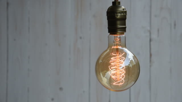 HD: Vintage Lighting Decor Old Style Light Bulb, Lockdown Shot, High Definition 1920x1080 Format household fixture stock videos & royalty-free footage