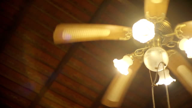 Vintage lighting hanging from the ceiling, Lighting decoration.