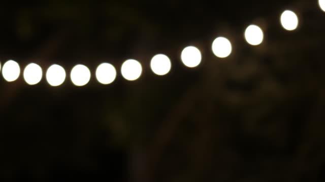 Vintage lights in the evening. Background