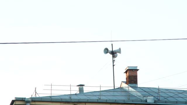 Vintage Loudspeaker On The Roof video