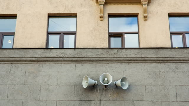 Vintage Loudspeaker On The Wall video