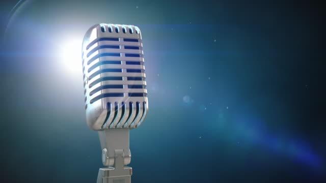 Vintage Microphone on Stage | Loopable - 4K video