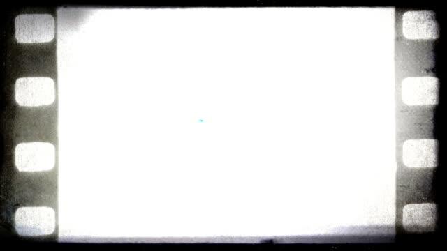 Vintage old 35 mm film background, HD. video