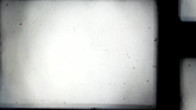 Vintage old projector film frame. video